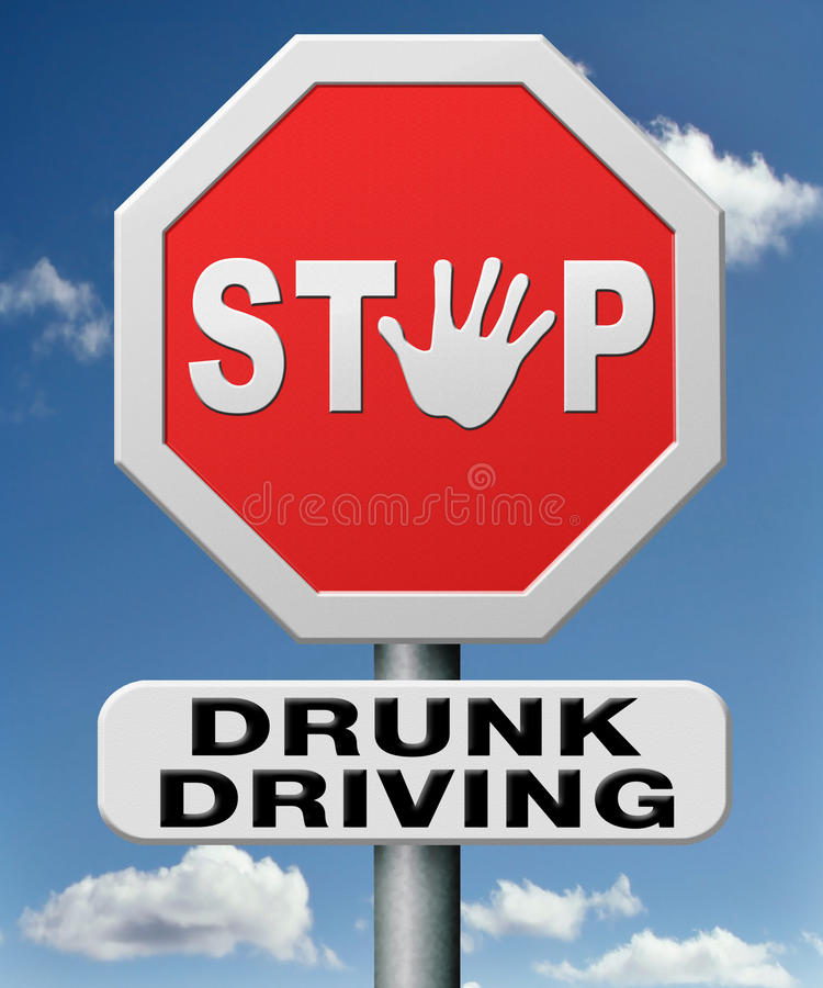 Stop drunk driving royalty free illustration
