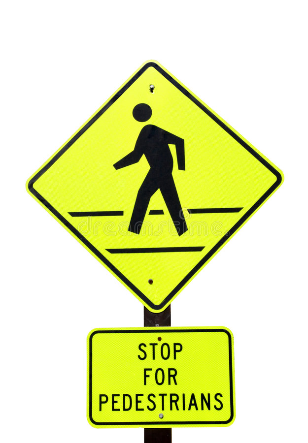 Free Stop For Pedestrians Royalty Free Stock Image - 454016
