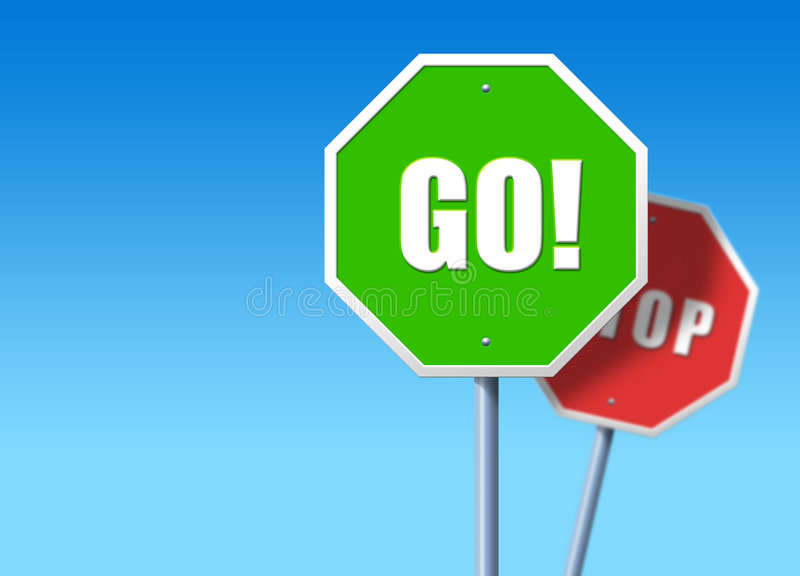 Stop, Go vector illustration