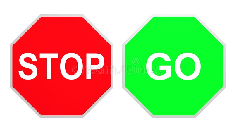 Stop Go vector illustration