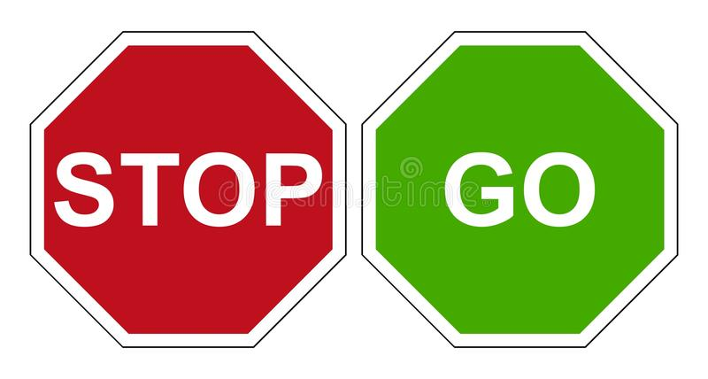 stop go sign stock vector illustration of green illustrative rh dreamstime com stop sign vector art stop sign vector free