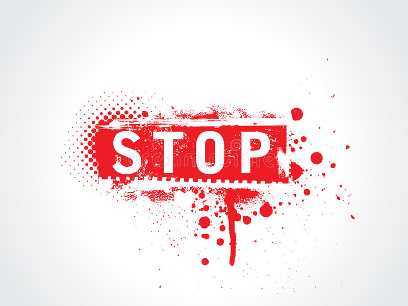 Stop grunge text vector illustration