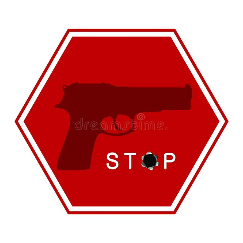 Stop Gun Sign Royalty Free Stock Photos