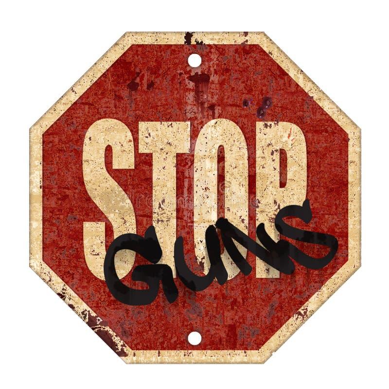 Stop Guns Sign Grunge Vintage stock illustration