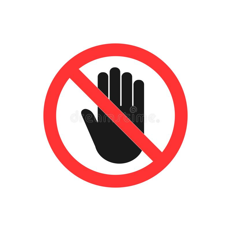 Stop hand icon. Stop sign. Vector illustration flat design. Stop hand icon. Stop sign. Vector illustration flat vector illustration