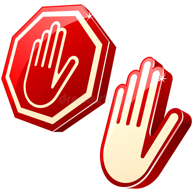Stop-hand sign royalty free illustration