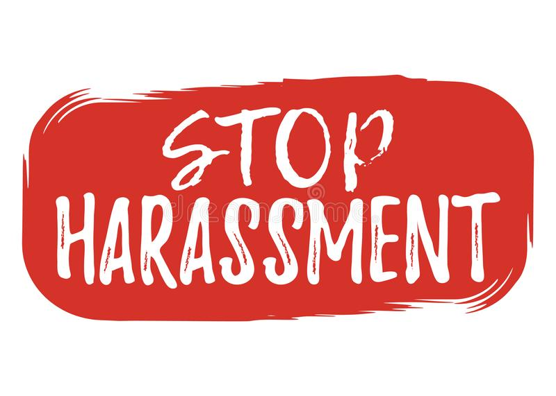 Stop Harassment label. Font with Brush. Equal Rights Badges. Vector illustration icon.  vector illustration