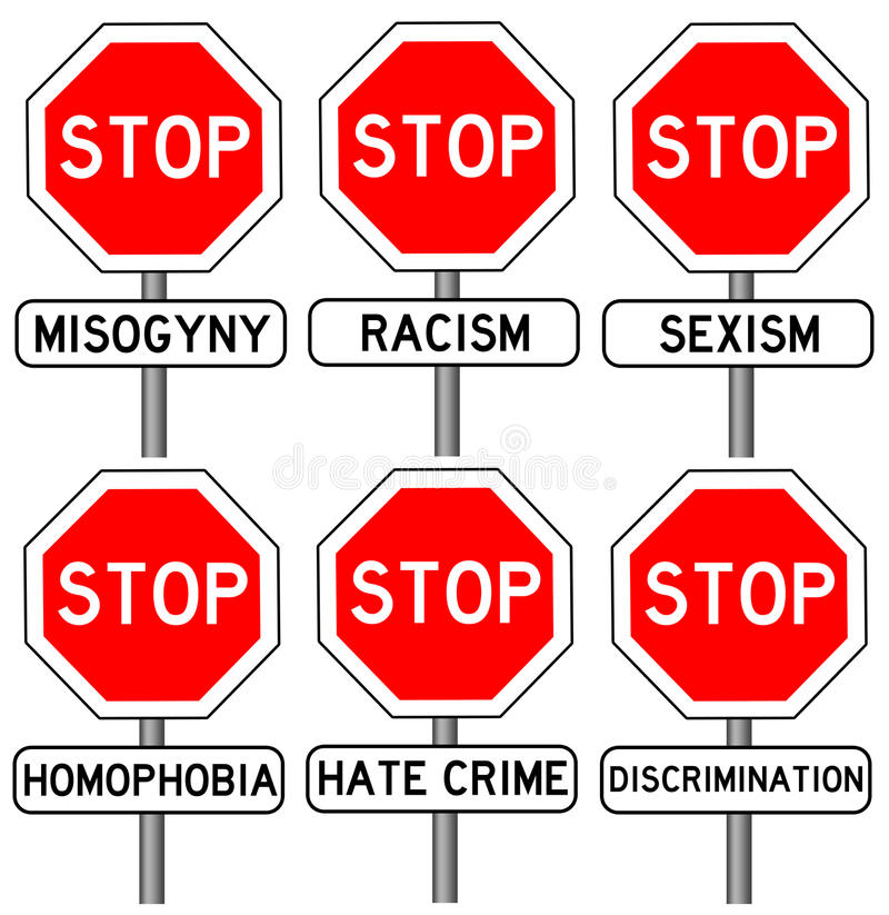 Stop hate crime. Trying to stop all sorts of hate crimes royalty free illustration