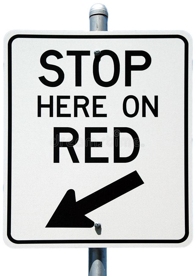 Stop Here On Red royalty free stock photography