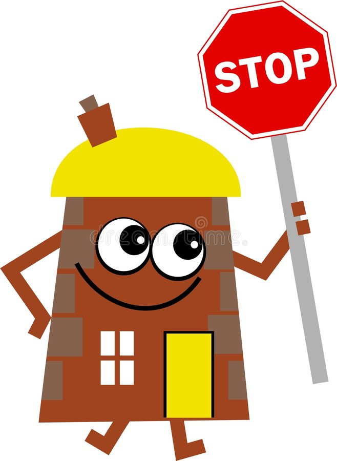 Download Stop house stock illustration. Image of sign, cute, property - 9180948