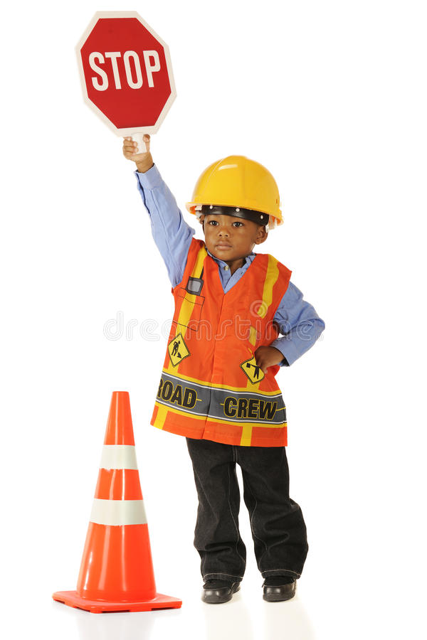 Download Stop! and I Mean It. stock photo. Image of vest, play - 20996976