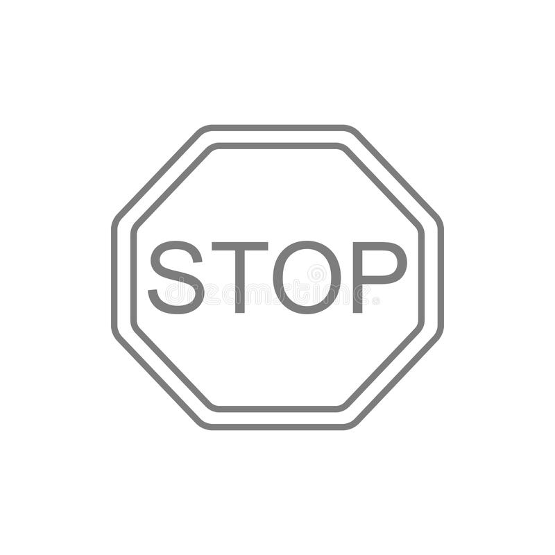 Stop icon. Element of cyber security for mobile concept and web apps icon. Thin line icon for website design and development, app vector illustration