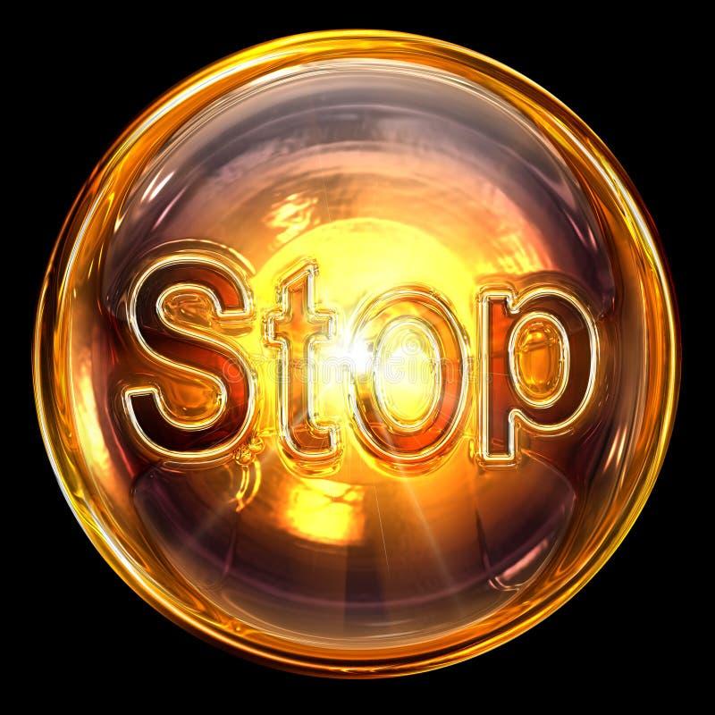 Stop icon glass royalty free stock photo