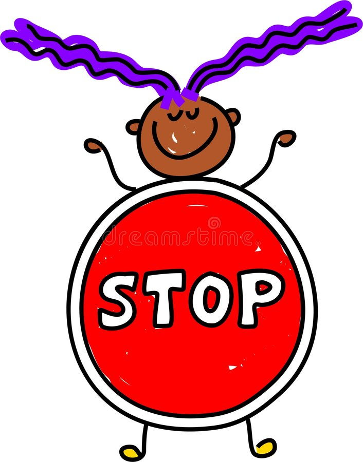 Stop Kid Royalty Free Stock Photos