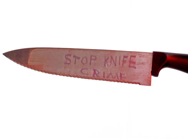 Download Stop Knife Crime Concept On White Background Stock Image - Image: 15885413