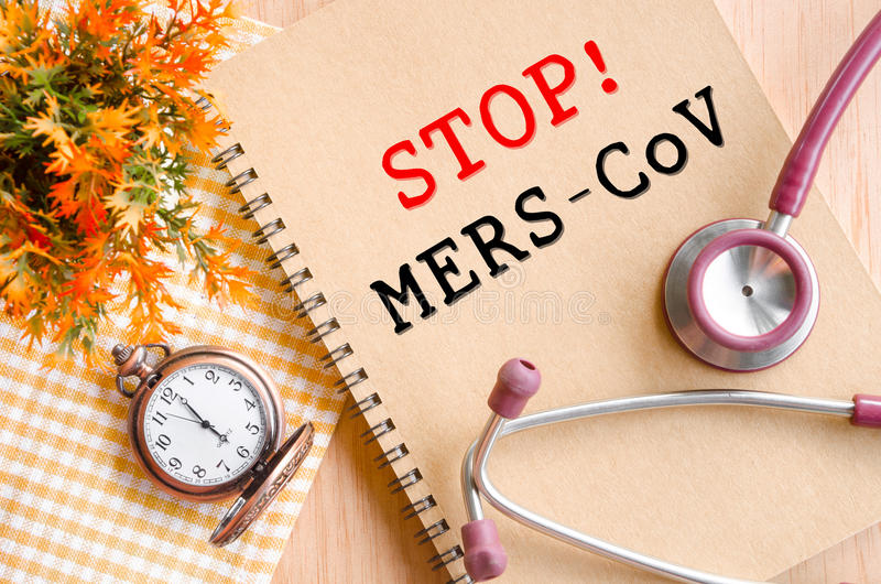 Stop MERS-COV. Stop MERS-CoV or Middle East Respiratory Syndrome Coronavirus stock images
