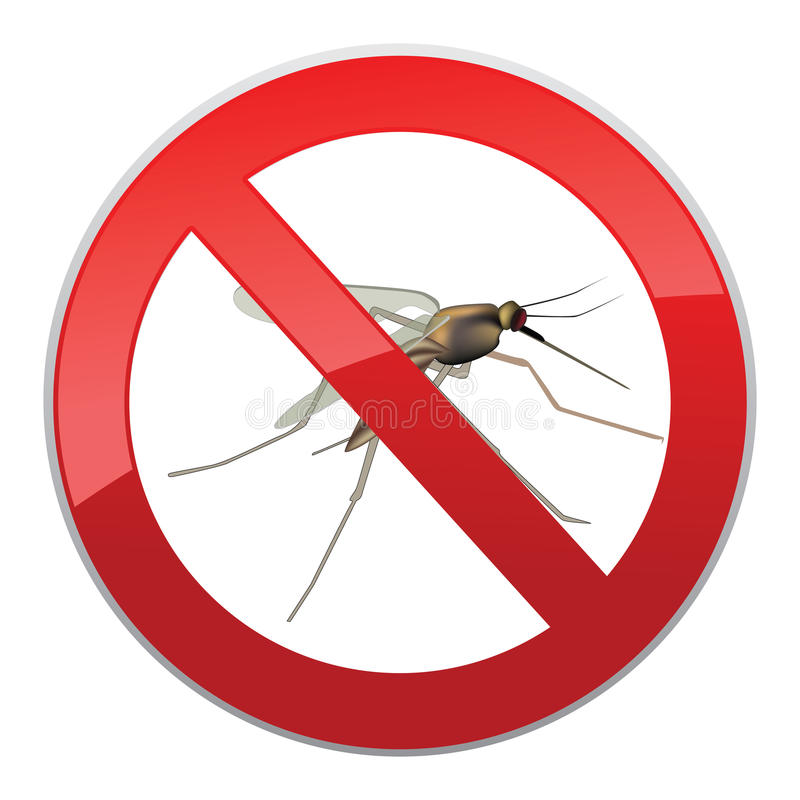 Free Stop Mosquito Sign Royalty Free Stock Photography - 34958907