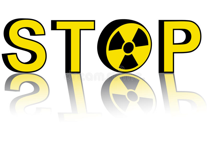Stop nuclear power. Stop atomic energy, illustration royalty free illustration