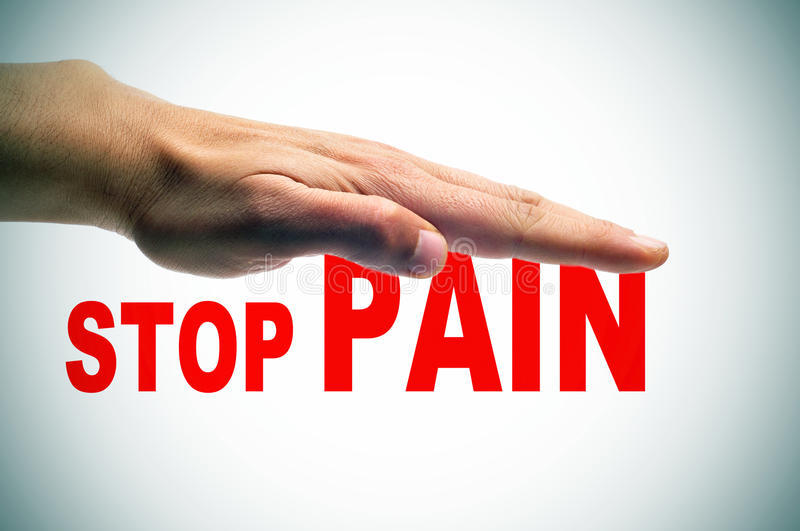 Stop pain royalty free stock photos