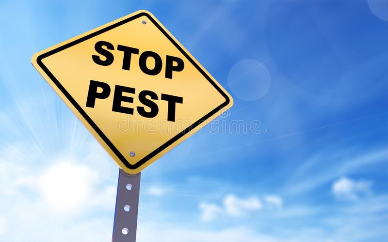 Stop pest sign stock illustration