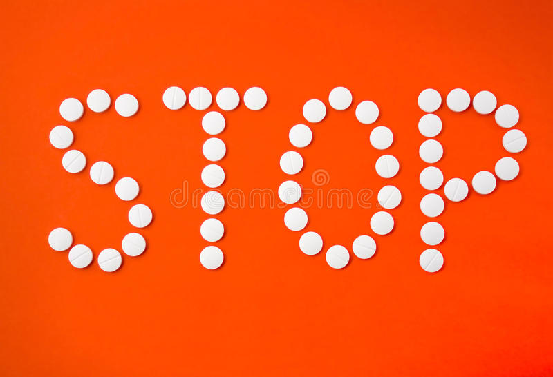 Stop With Pills Royalty Free Stock Image