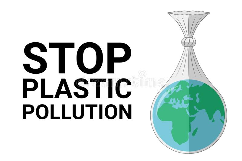 Stop plastic pollution. World environment Day concept. stock photography