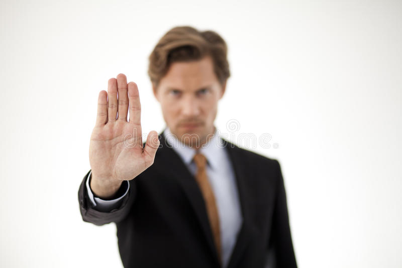 Stop right there stock image