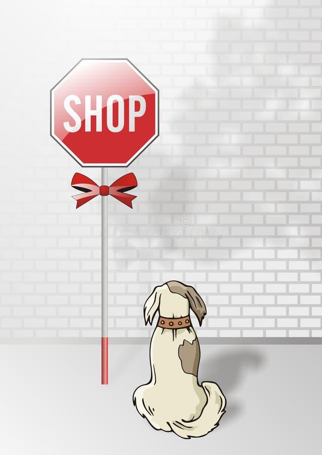 Download Stop shop stock vector. Image of brick, illustration, present - 5604015