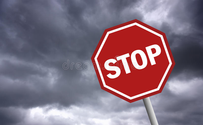 Download Stop sign stock illustration. Image of illustration, beware - 16221682