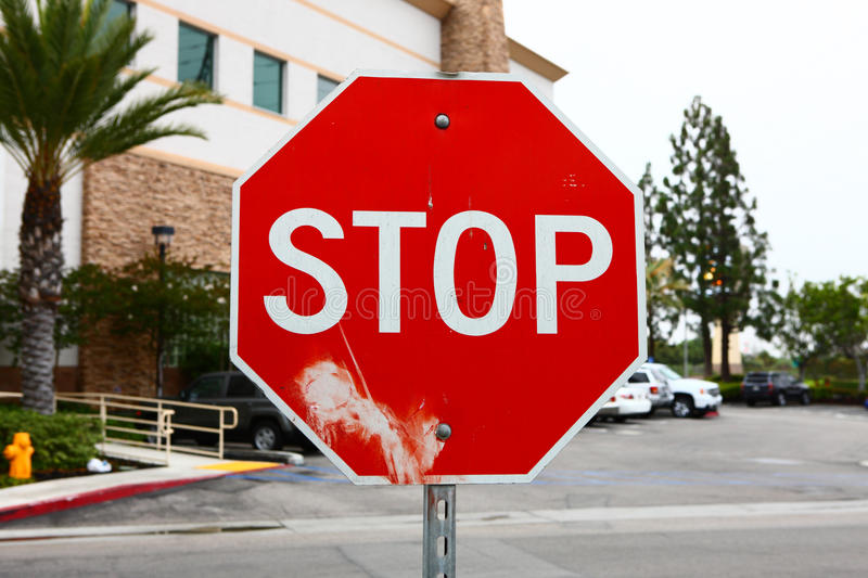 Stop sign. The stop sign closeup shot in los angeles royalty free stock photography