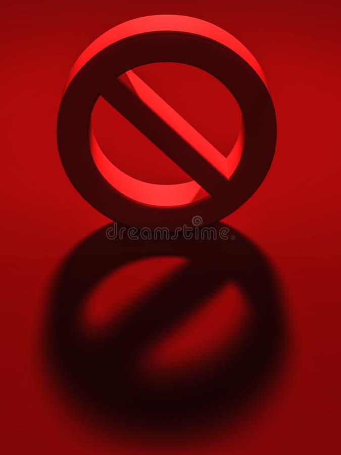 Download Stop sign stock illustration. Illustration of banned - 26958203