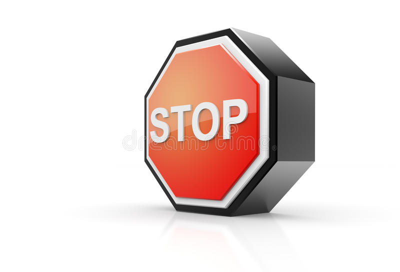 Stop Sign 3D Royalty Free Stock Photo