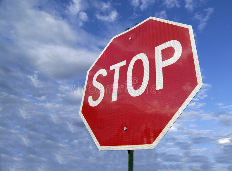 Download Stop Sign stock photo. Image of careful, here, care, marker - 6146338