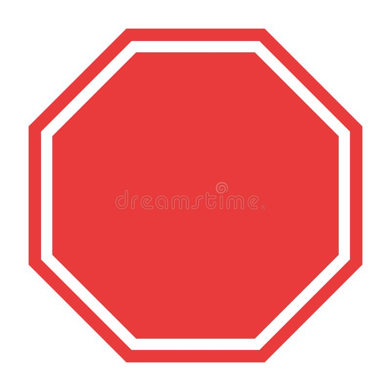 Free Stop Sign, Icon Blank Vector. Red Color Singe Symbol Illustration Royalty Free Stock Photos - 174322388