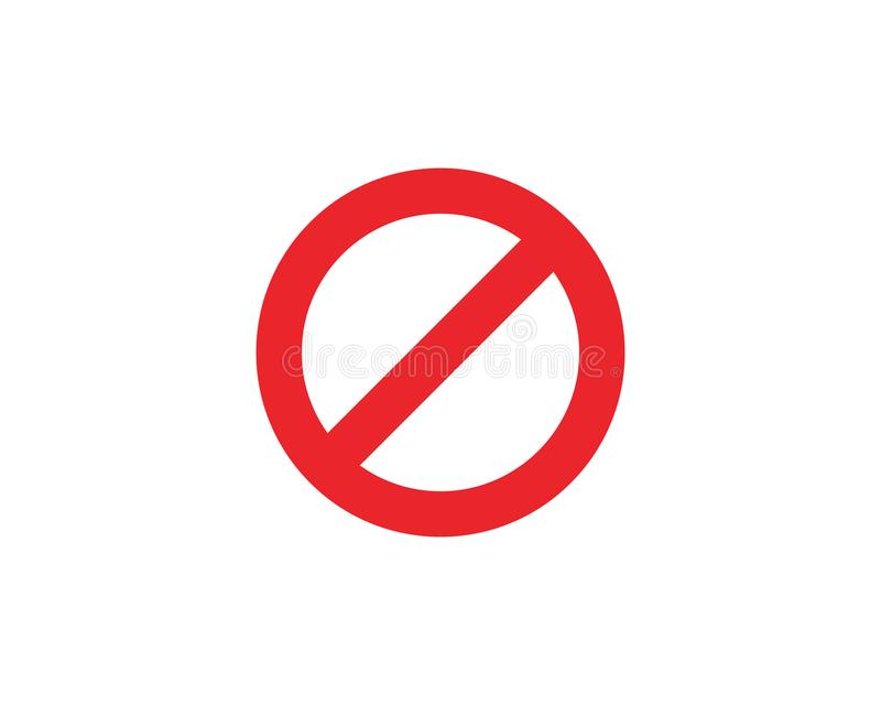 Stop Sign icon Template vector. Illustration design stock illustration