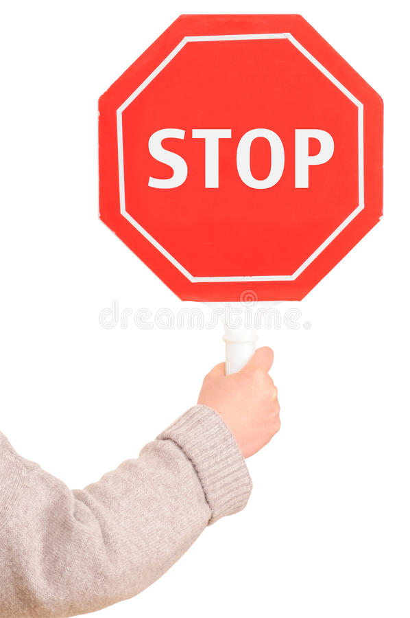 Stop sign. Isolated royalty free stock photo