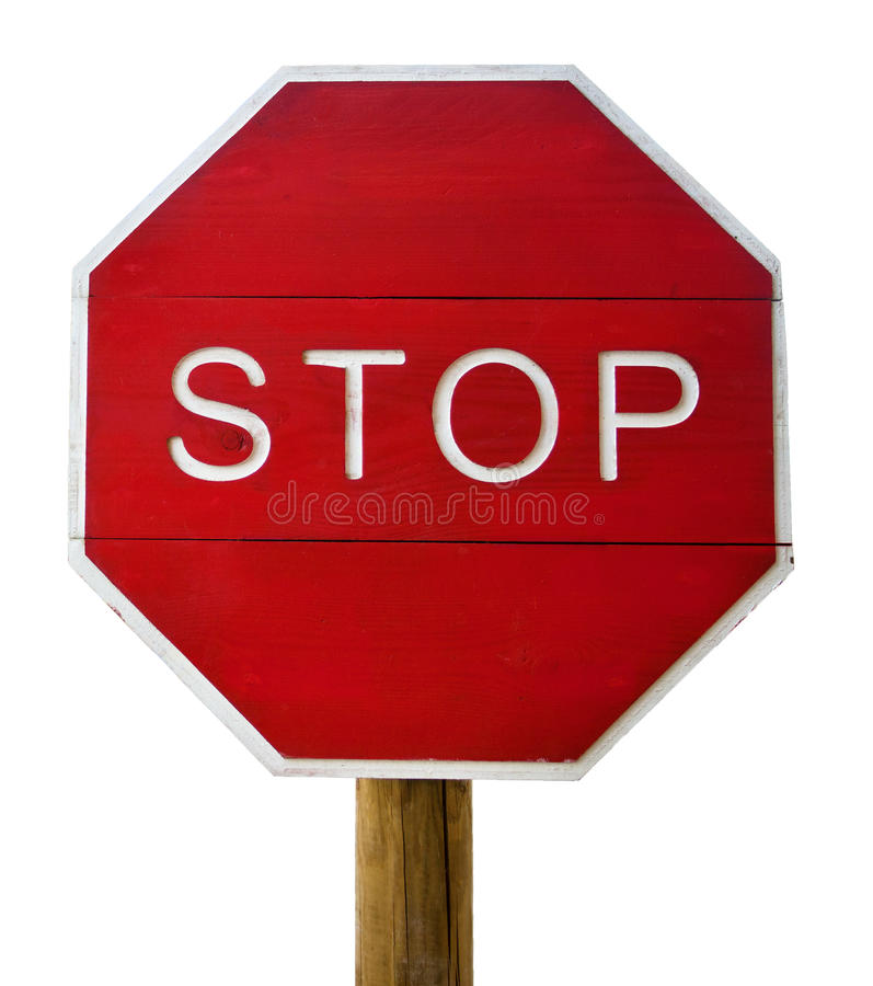 Stop Sign Isolated Stock Image