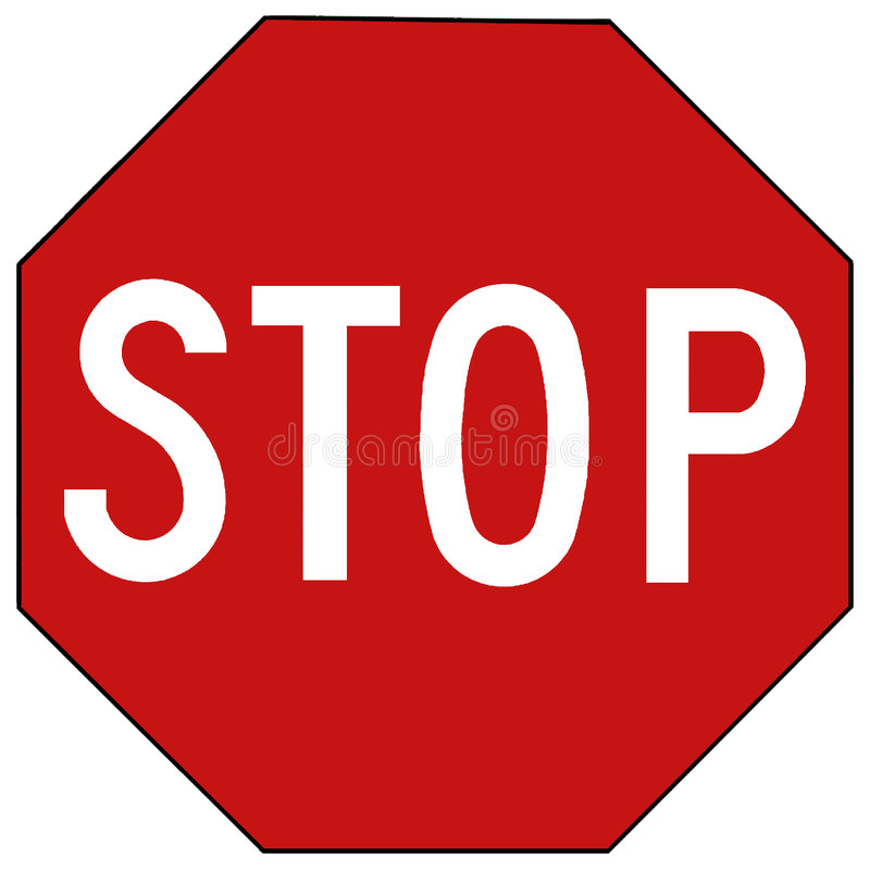 Stop sign - isolated vector illustration