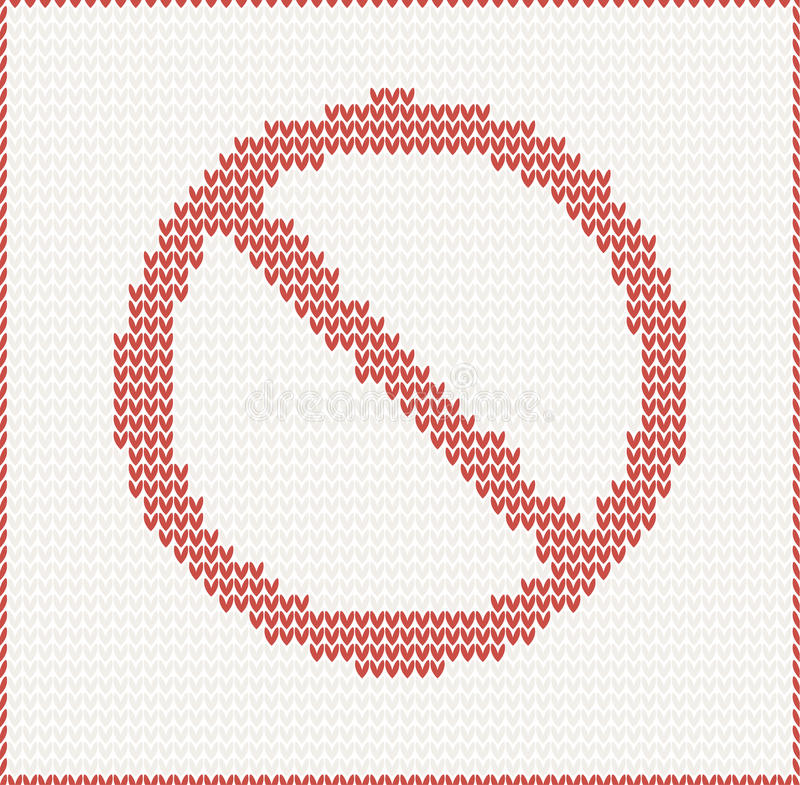 Download Stop sign stock vector. Image of plaid, border, ornament - 31390428