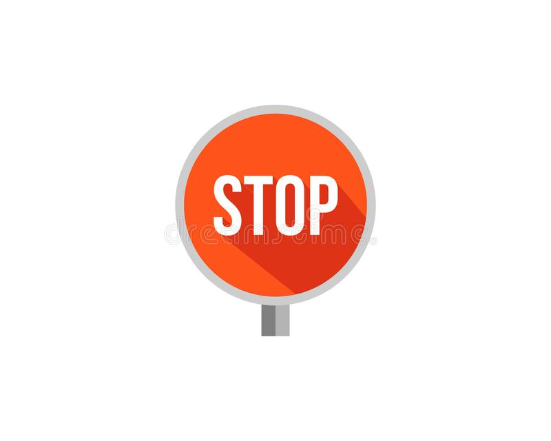 Stop sign with long shadow in flat style vector illustration vector illustration