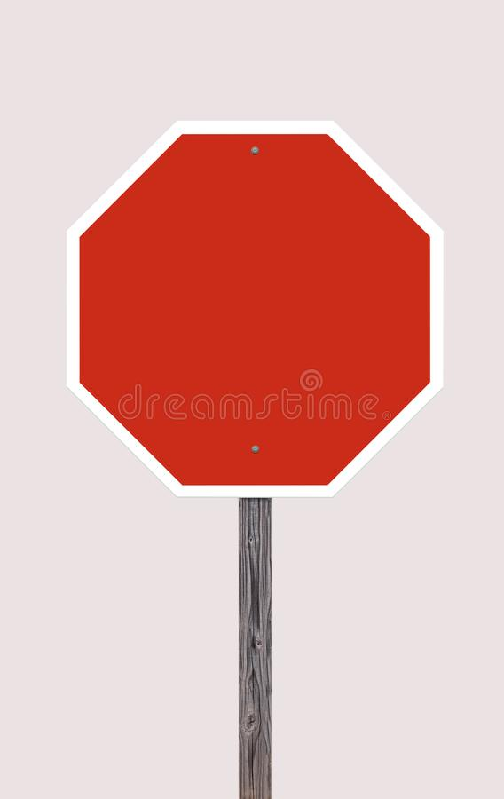 Stop Sign On Off White. Background For Easy Extraction stock illustration