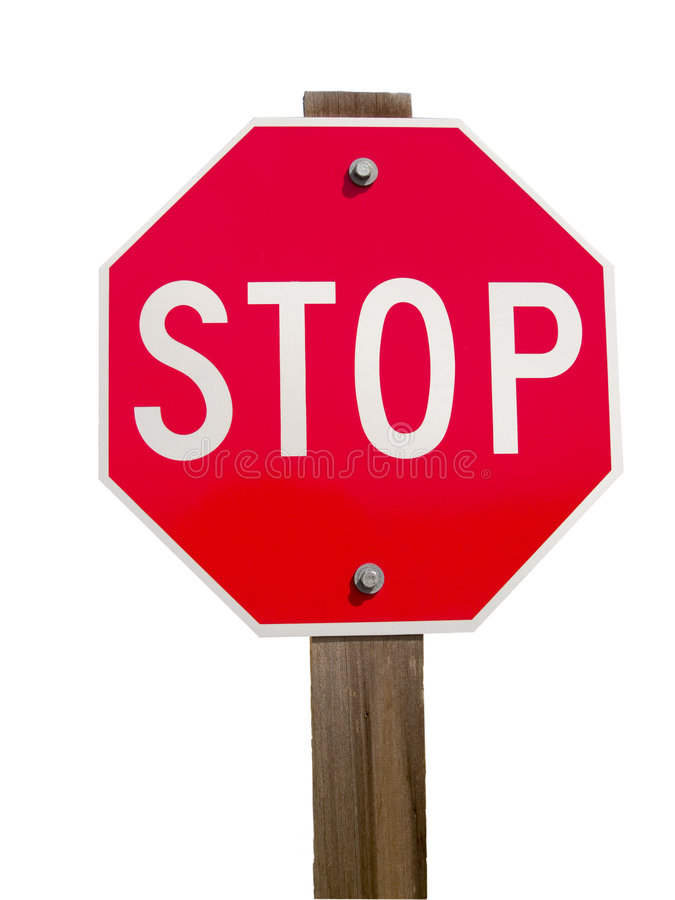 Stop Sign and Post royalty free stock photos