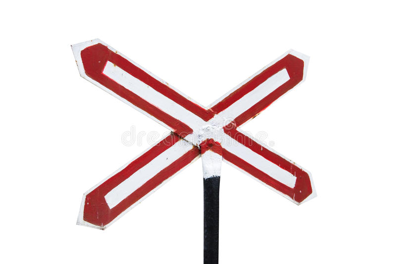 Stop Sign on Railway royalty free stock photo