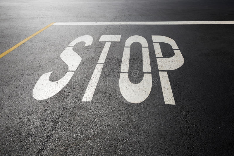 Stop sign. On the road royalty free stock photography