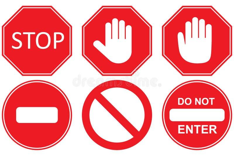 Stop sign, set stock illustration