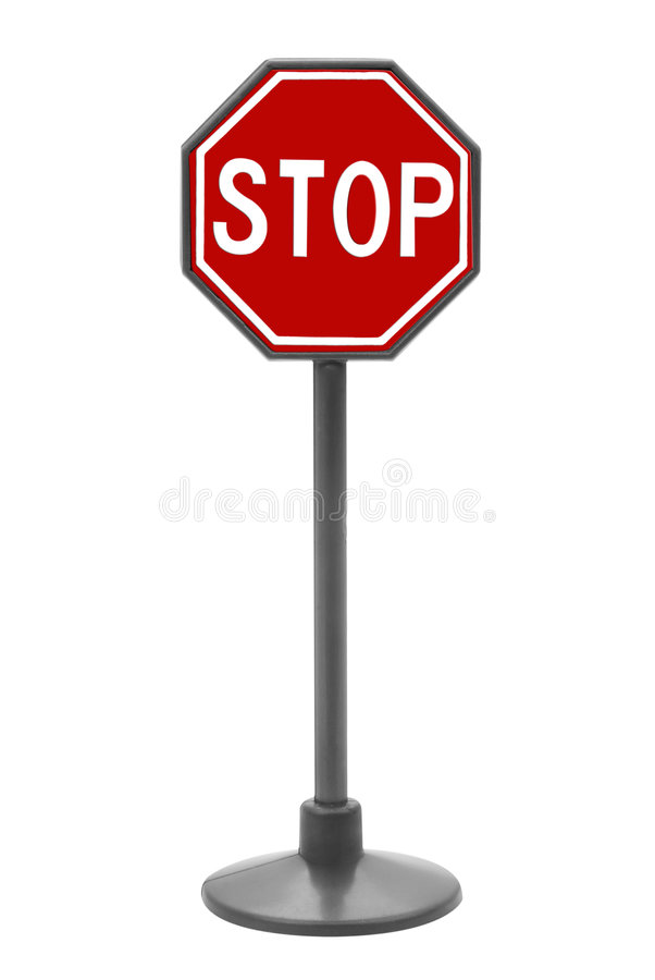 Stop sign toy stock photography