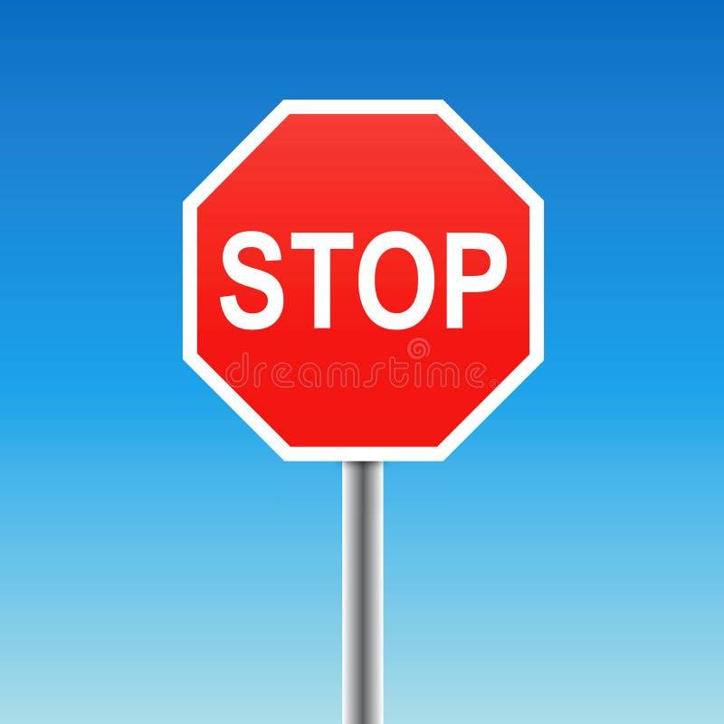 Download Stop sign (vector) stock vector. Image of halt, beware - 12589222