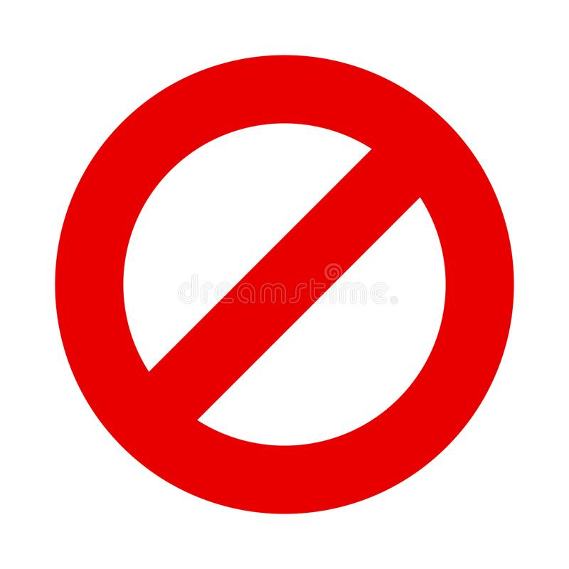 Stop sign vector no entry symbol stock illustration