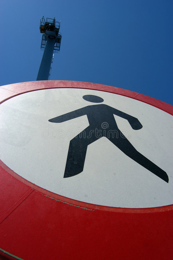 Stop signal - Do not walk stock photography