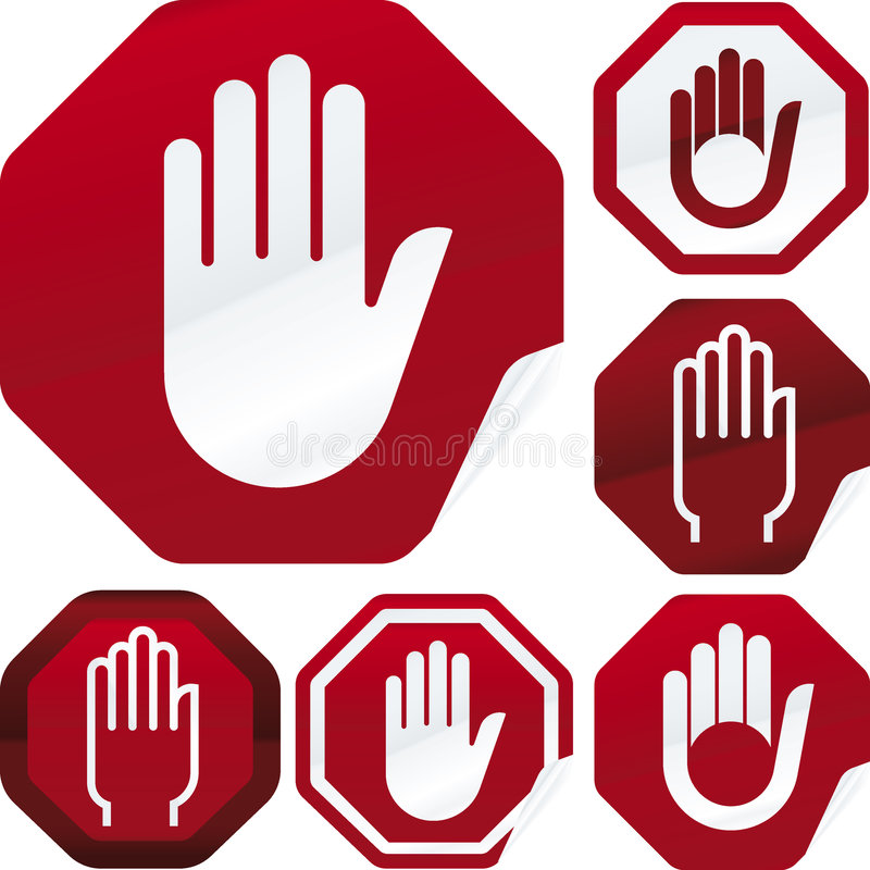 Download Stop Signal Sticker Stock Image - Image: 7055991